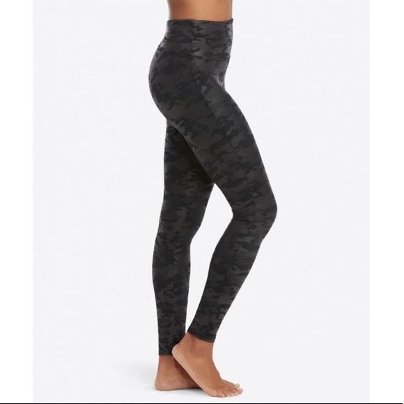 c2b0c1b1240b7 SPANX Pants | Faux Leather Camo Leggings Size Xs | Poshmark